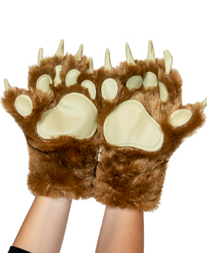 LazyOne® Brown Bear Paw Mitts